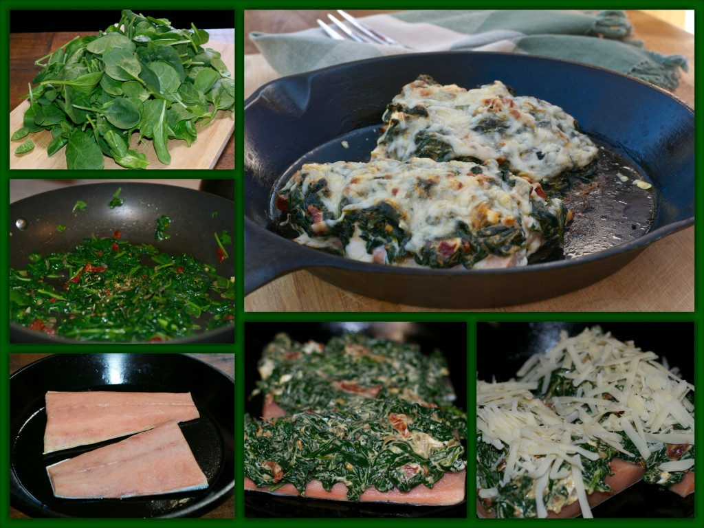 Salmon Florentine Collage