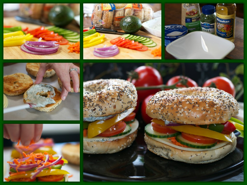Veggie Sandwich Collage