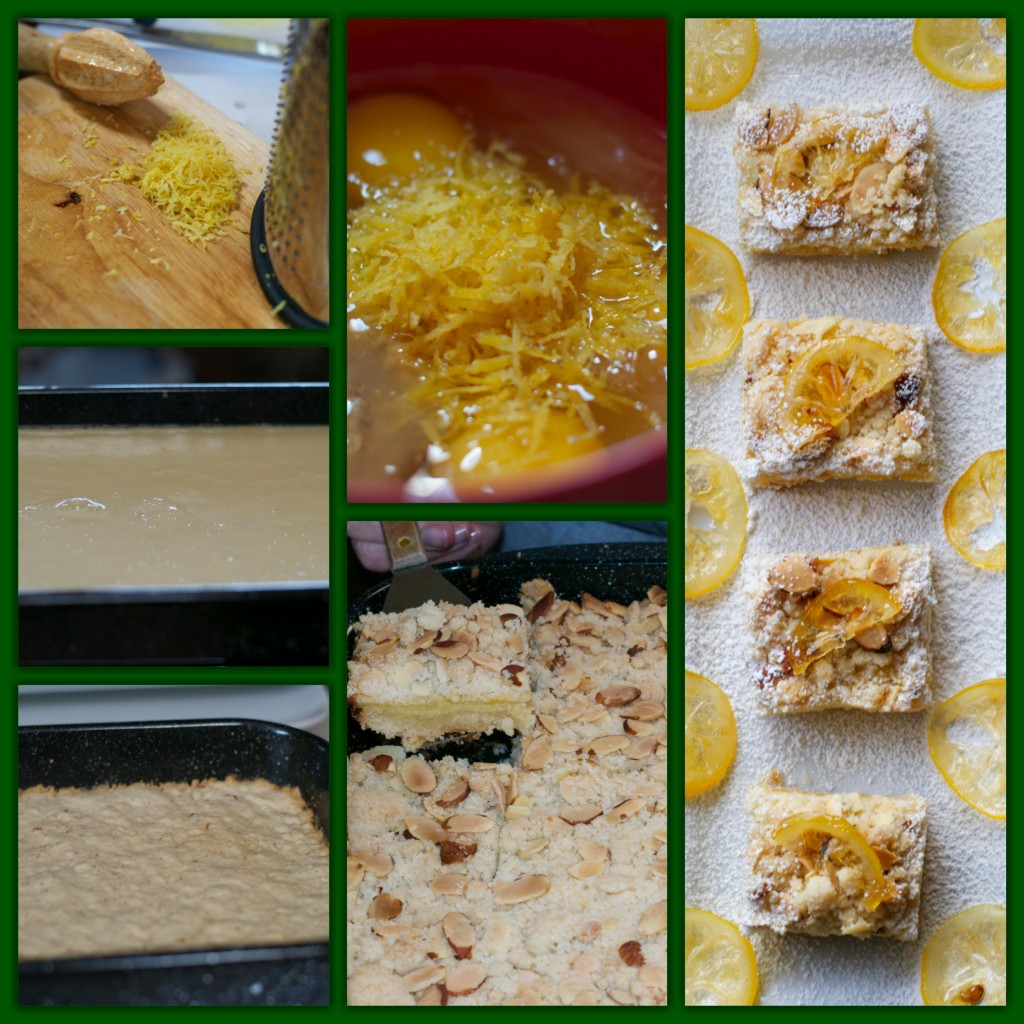 Almond Lemon Bar Collage