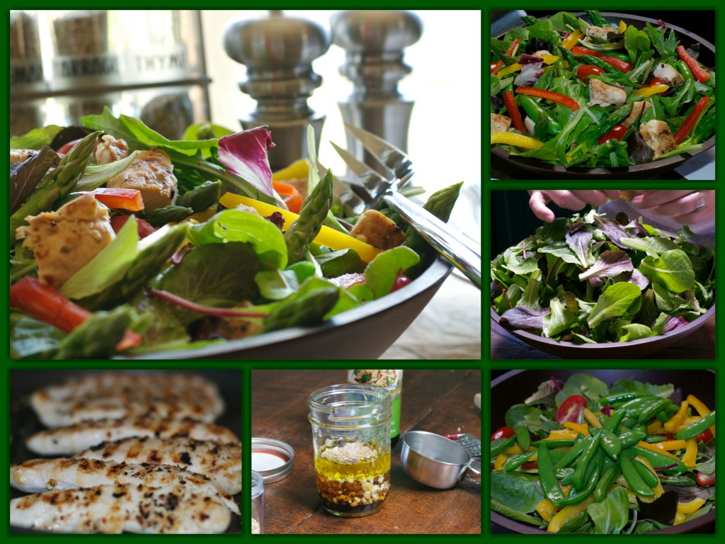 Grilled Chicken Veggie Salad Collage