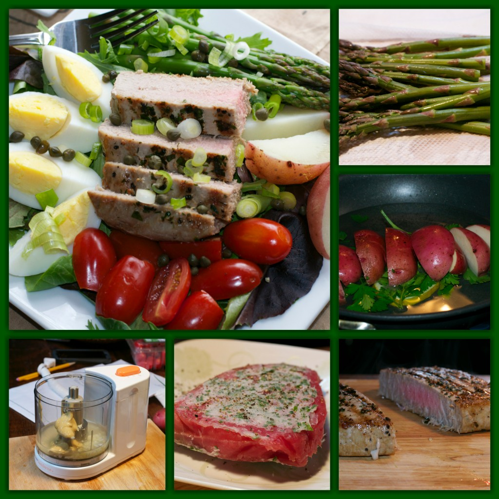 Tuna Salad Nicoise Collage