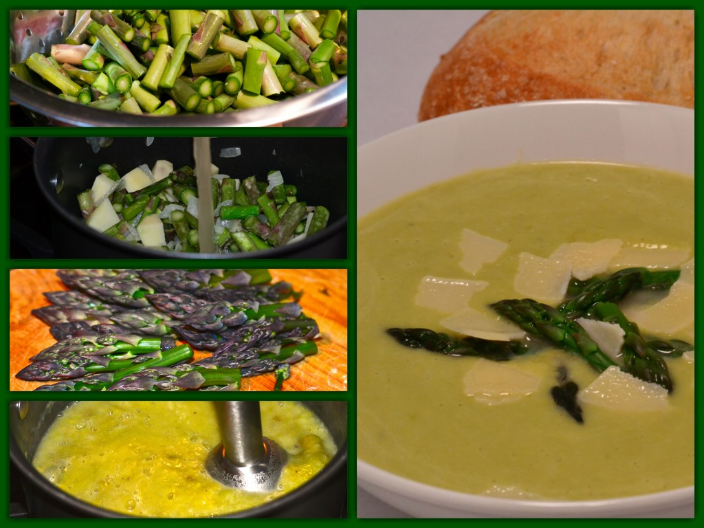 Cream of Asparagus Soup Collage