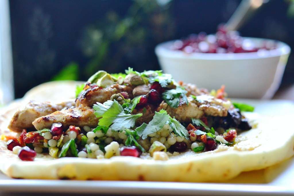 Middle Eastern Chicken Couscous Wrap 1