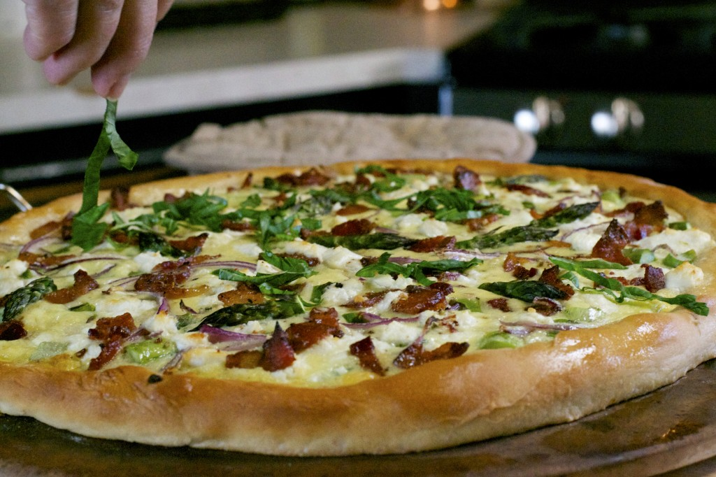 Asparagus Goat Cheese Pizza