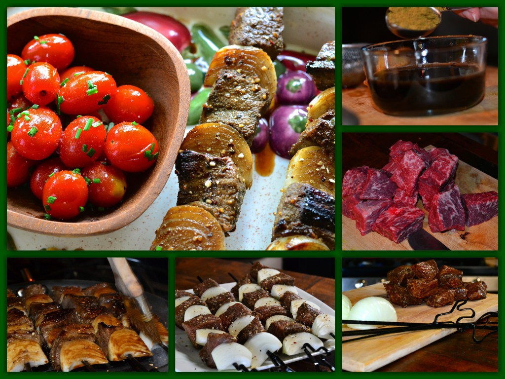 Cumin Beef Kabobs Collage