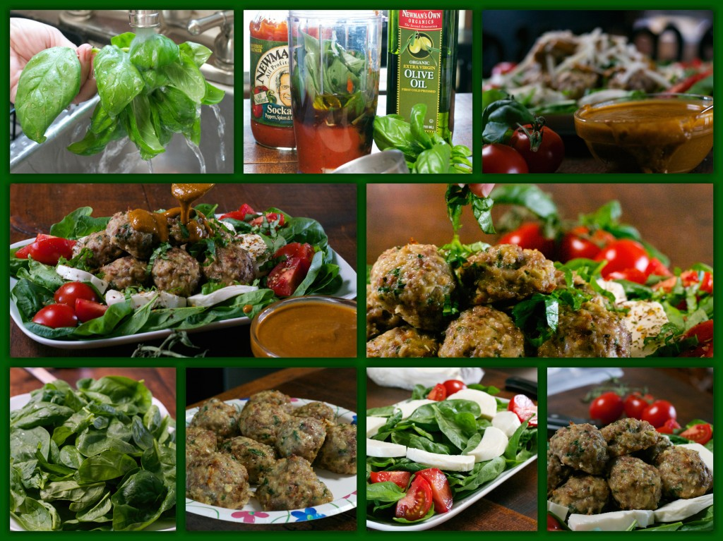 Italian Meatball Salad Collage