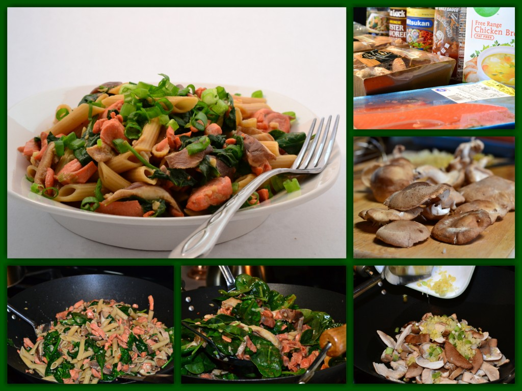 Penne Salmon Pasta Collage