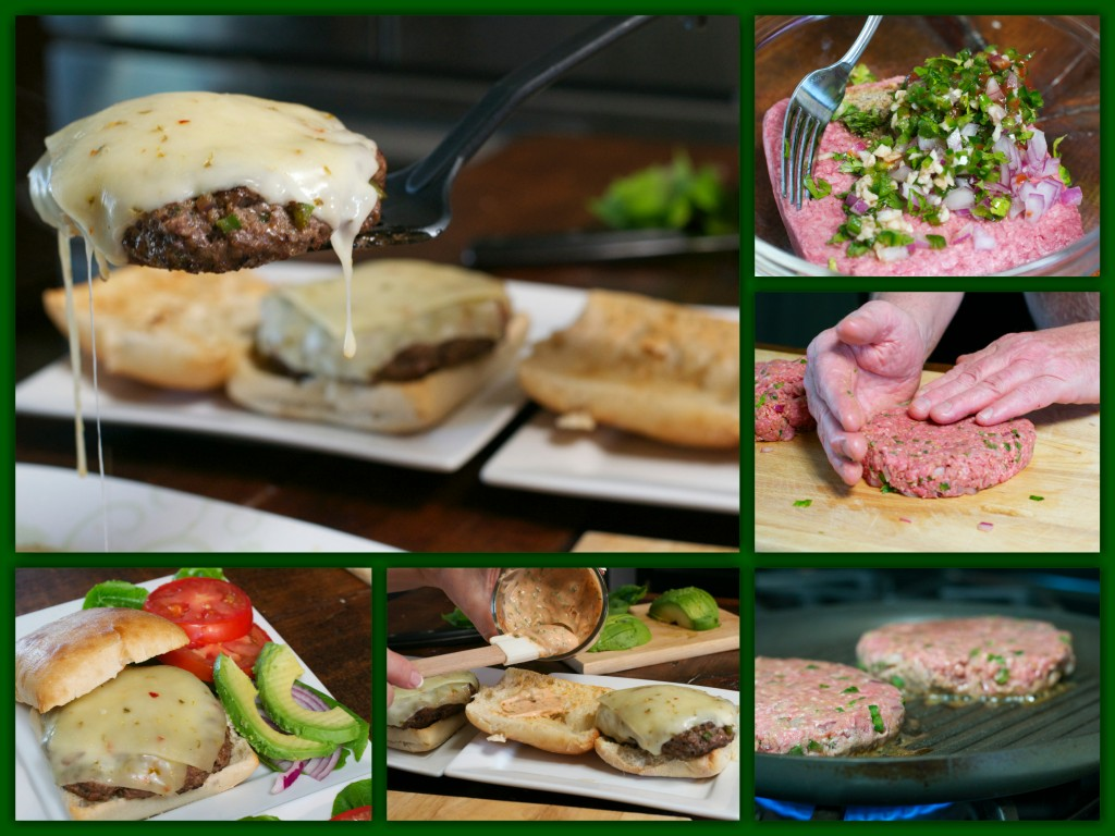 Cilantro Sriracha Burger Collage