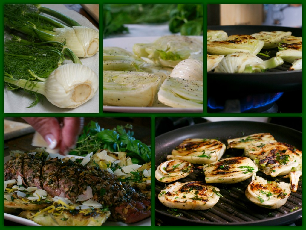 Grilled Fennel Salad Collage