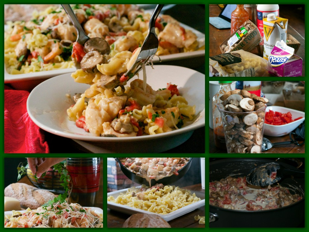 Monterey Seafood Pasta Collage