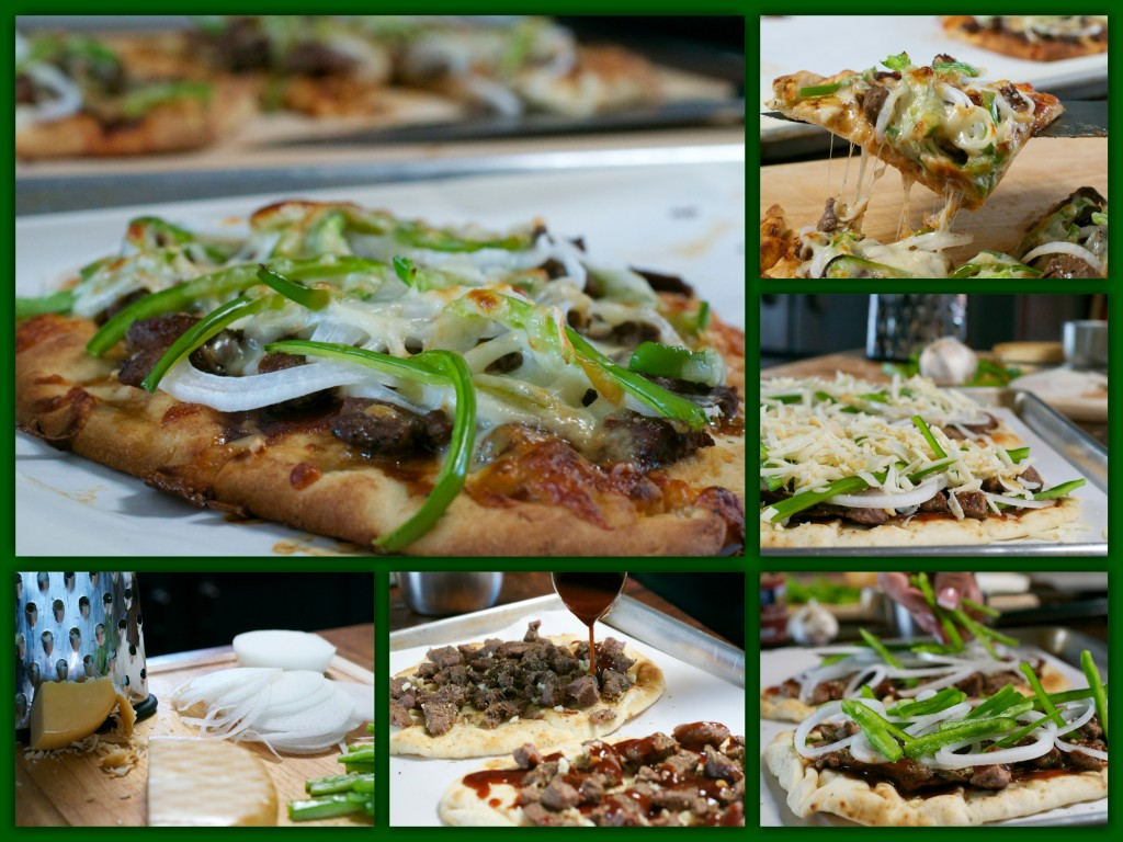 Philly Cheesesteak Flatbread Collage