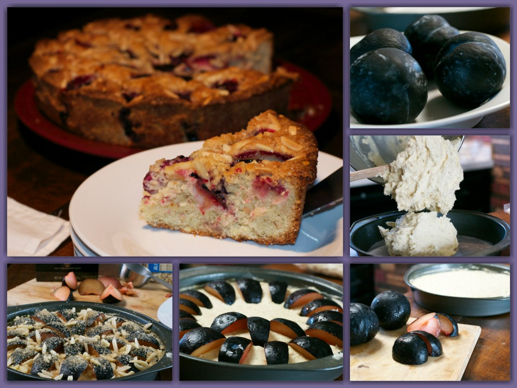 Almond Plum Buckle Collage