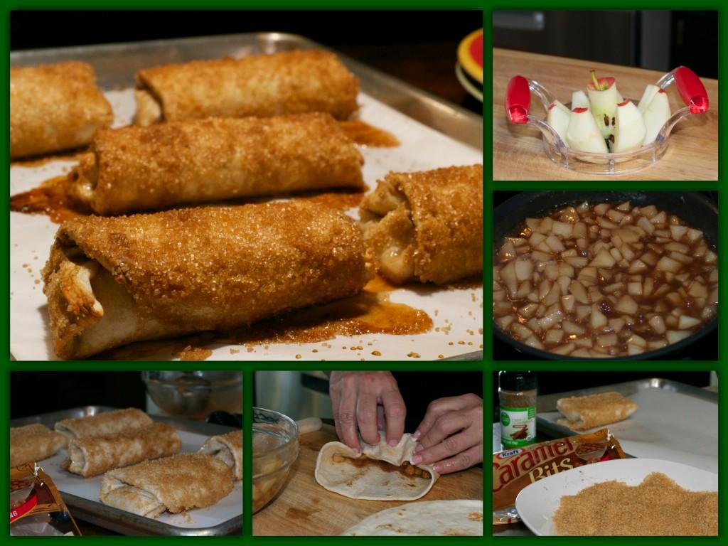 Caramel Apple Burritos Collage