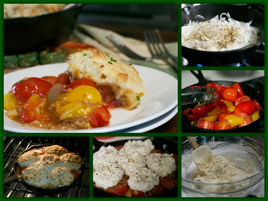 Tomato Cobbler Collage