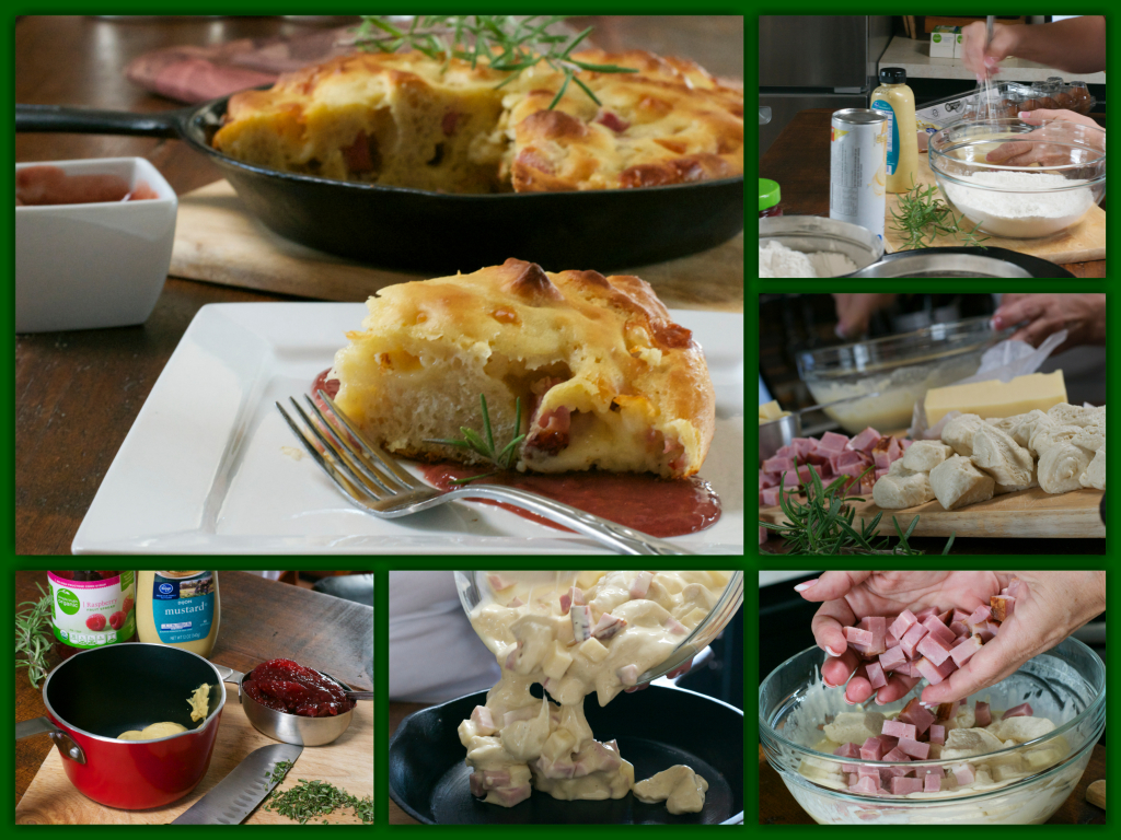 Monte Cristo Skillet Bread Collage