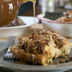 Caramel Pecan Stuffed French Toast