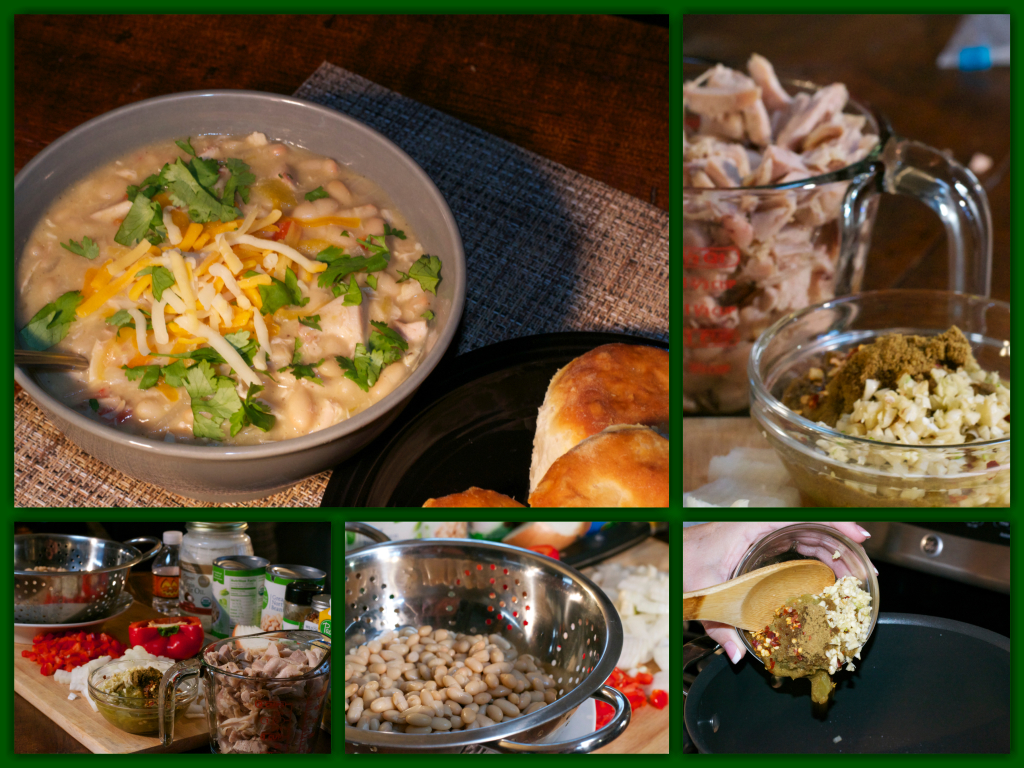 Easy White Bean Soup Collage