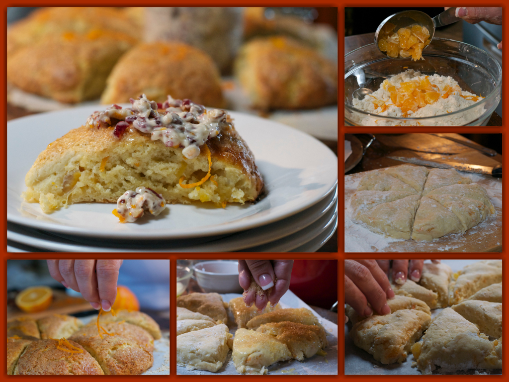Orange Clementine Scones Collage