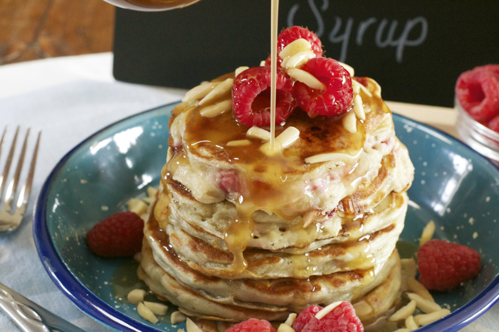 Raspberry Greek Yogurt Pancakes 1