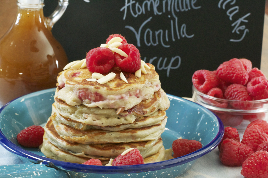 Raspberry Greek Yogurt Pancakes 2