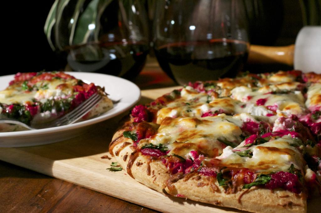 Roasted Beet Pesto Pizza