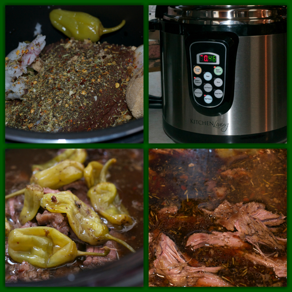 Italian Beef Collage