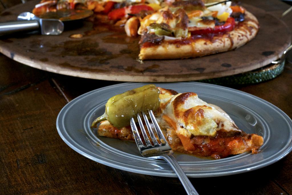 Italian Beef Pizza Slice