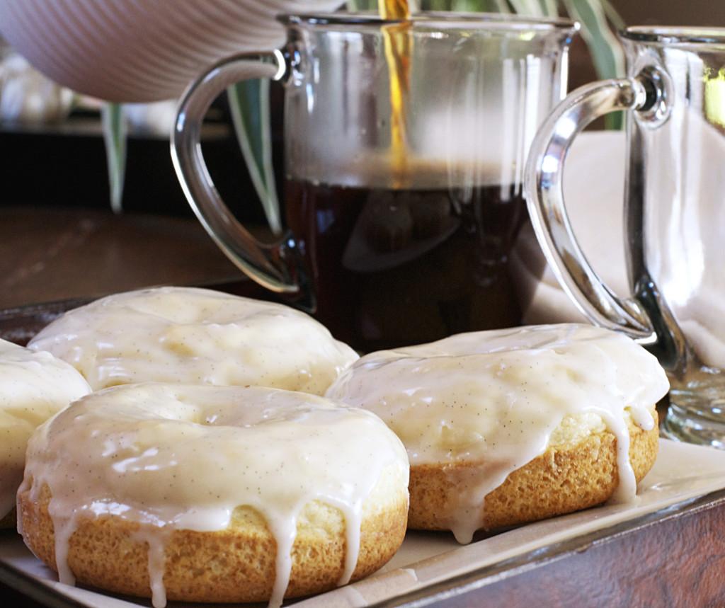 Baked French Vanilla Glazed Donuts