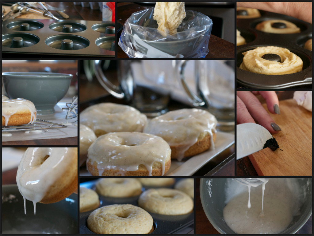 Baked French Vanilla Glazed Donuts Collage