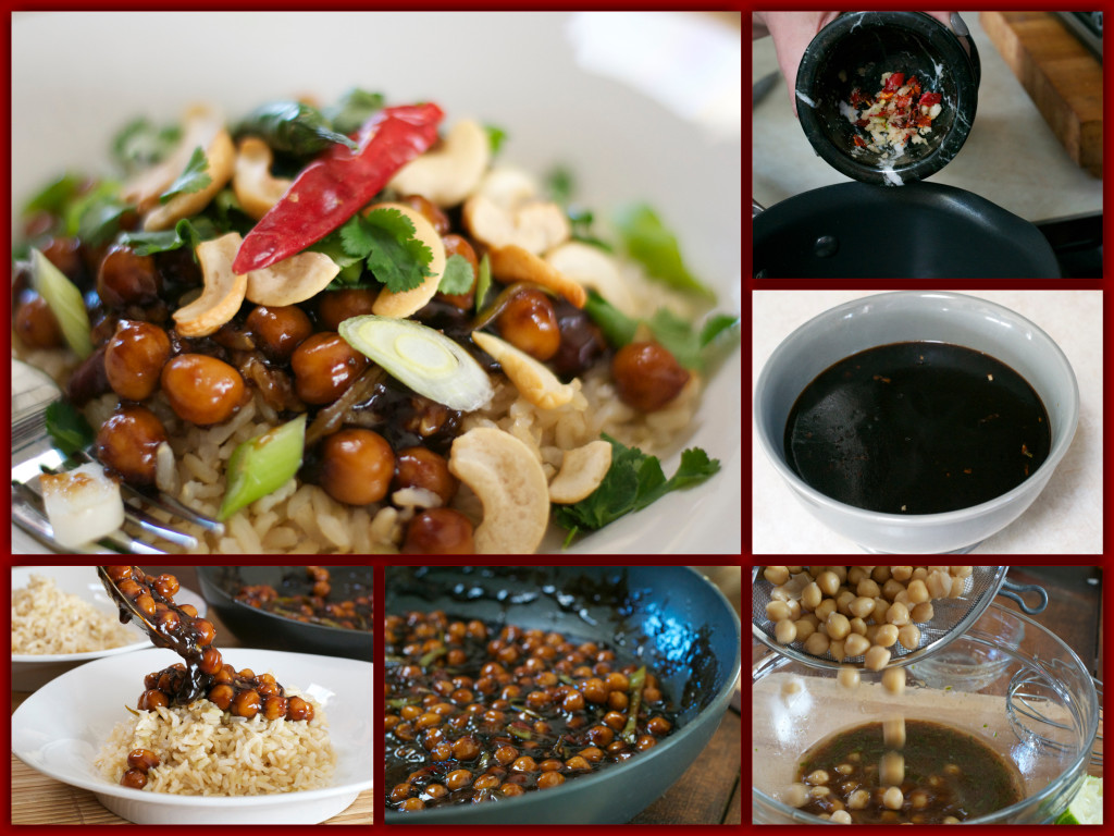 Chickpea Kung Pao Collage