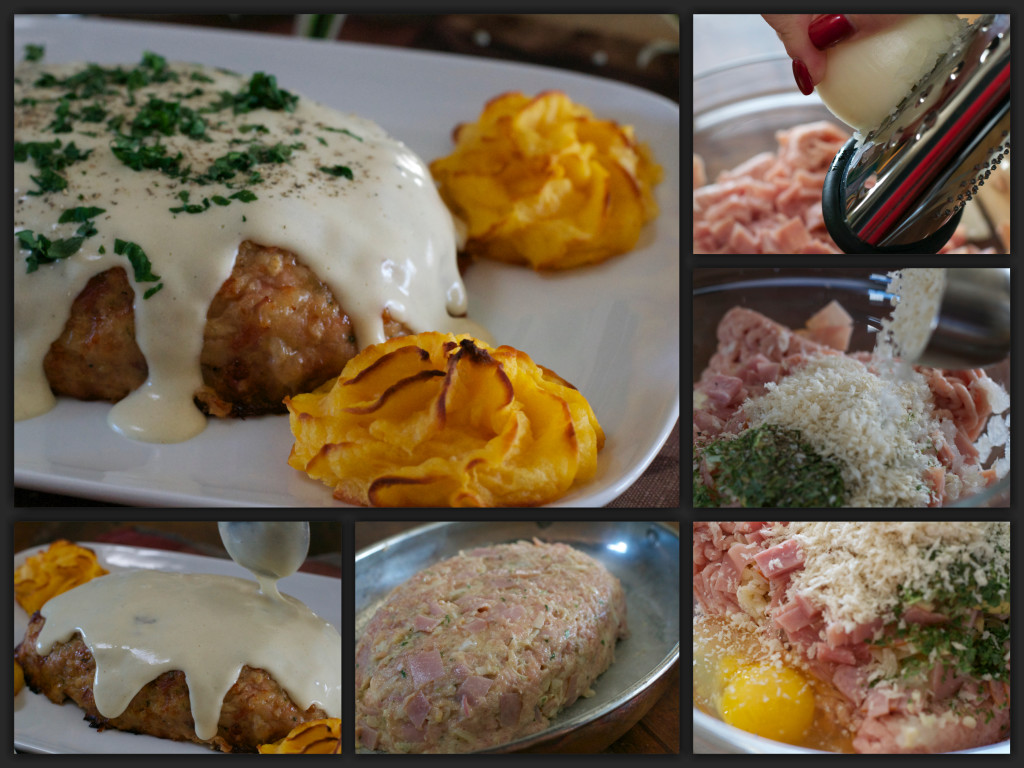 Cordon Bleu Meatloaf Collage