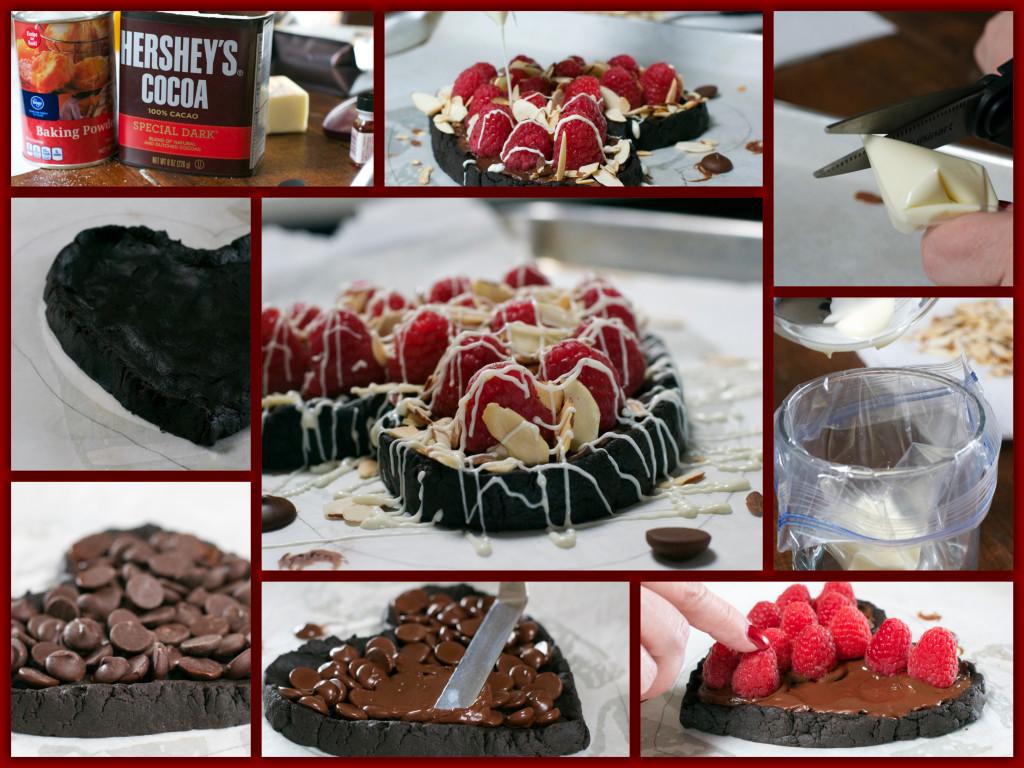 DARK CHOCOLATE RASPBERRY COOKIE Collage