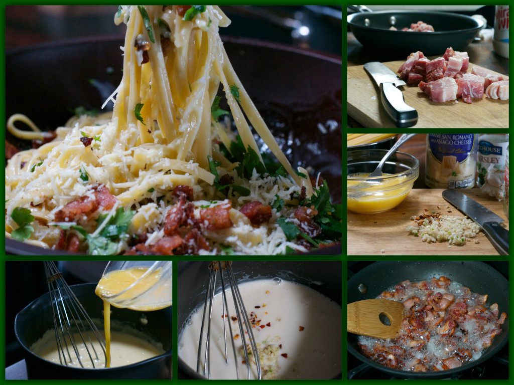 Easy Pasta Carbonara Collage