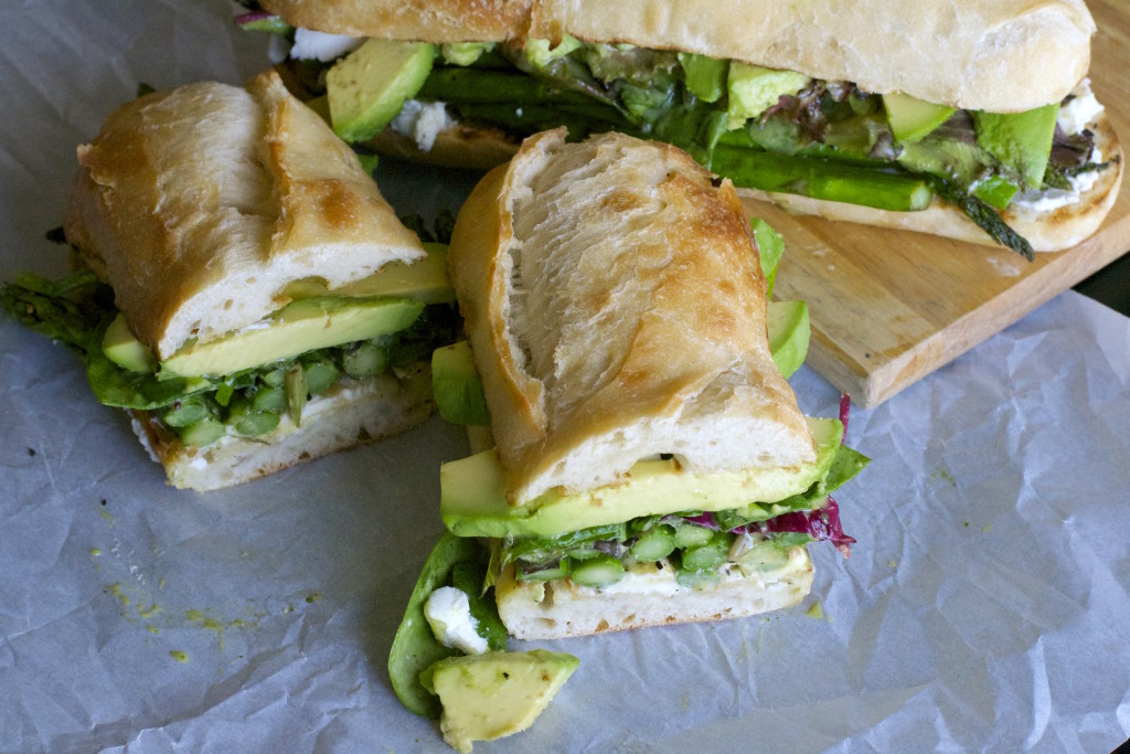 Grilled Asparagus Goat Cheese Sandwich 1