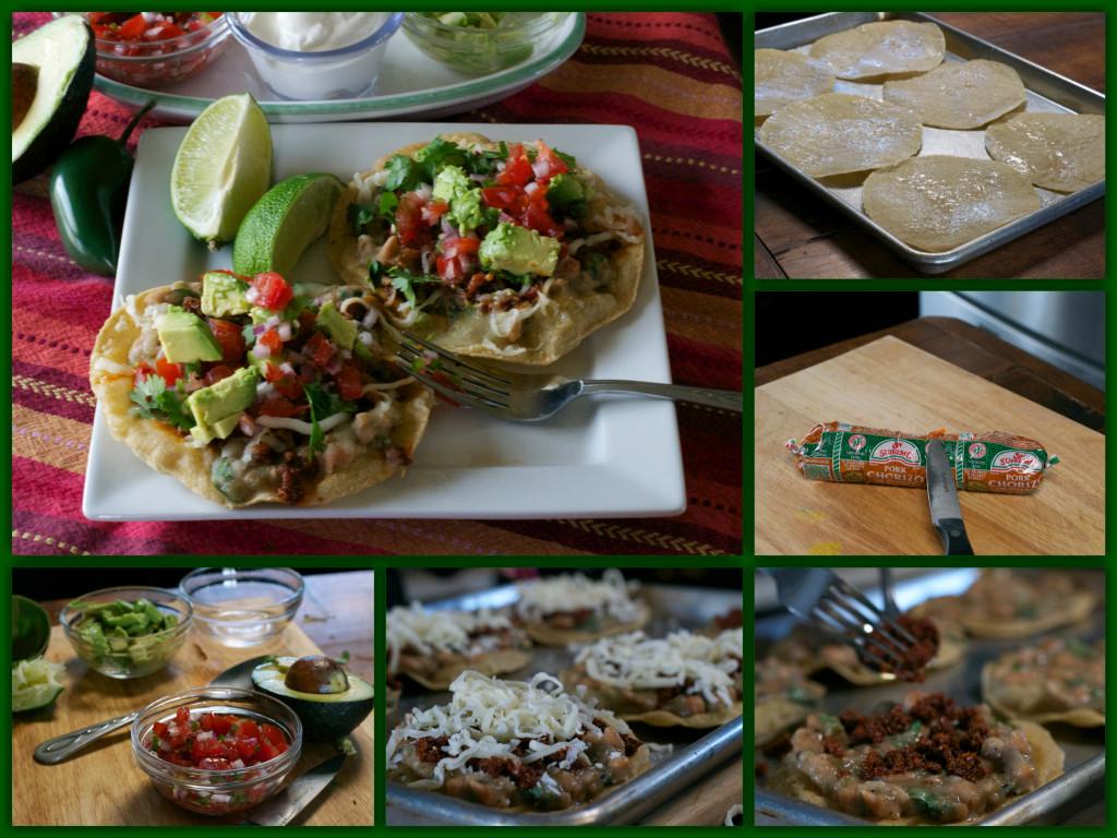 Chorizo Verde Tostada Collage
