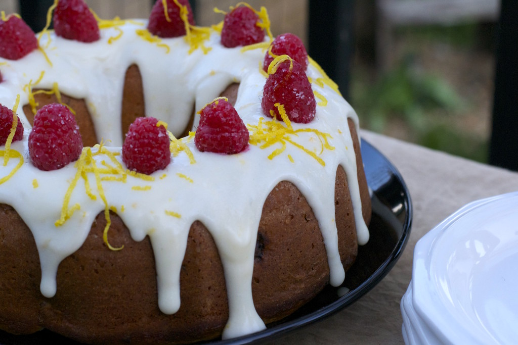 Lemon Raspberry Bundt Cake 1