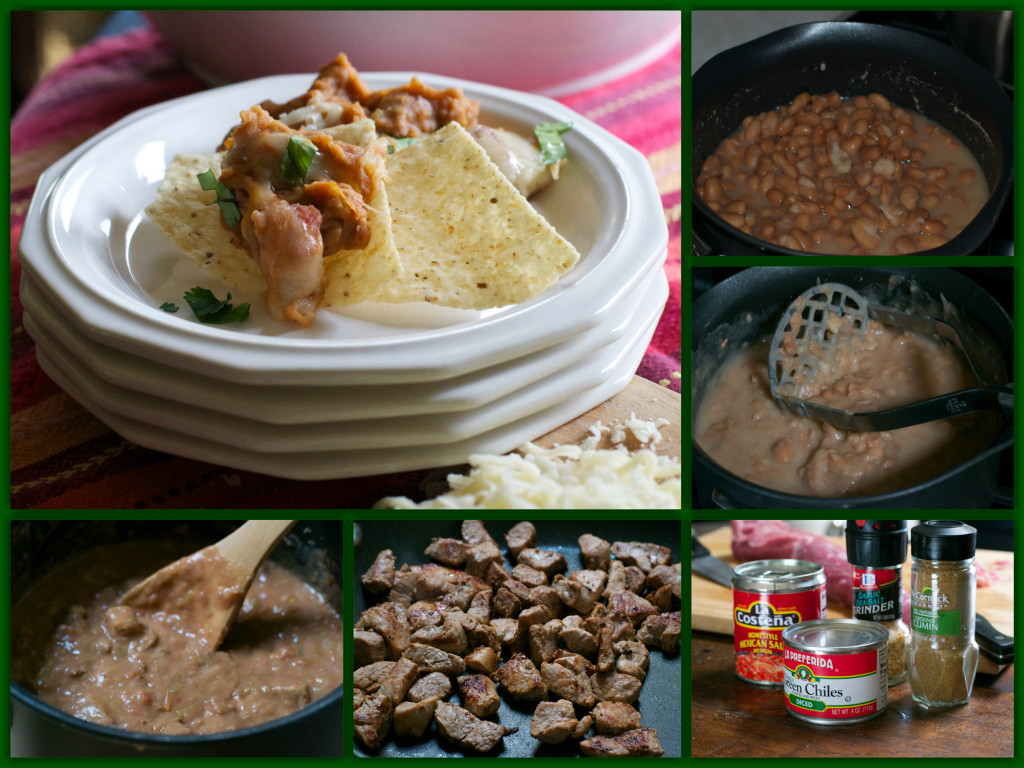 Tim's Pinto Bean Pork Dip Collage