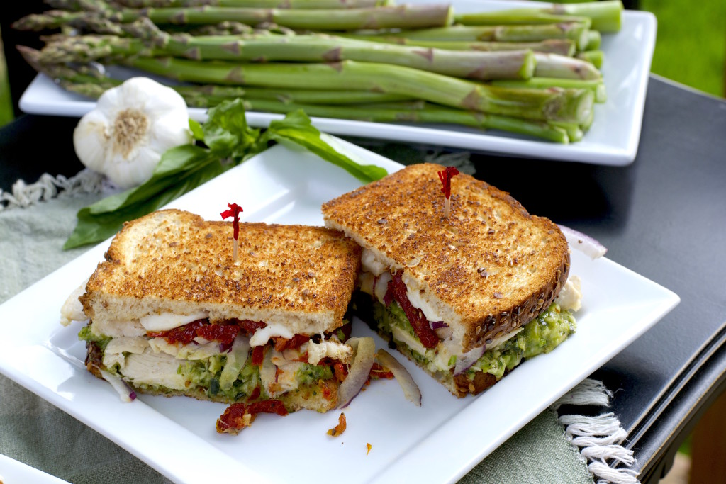 Asparagus Pesto Chicken Sandwich 1