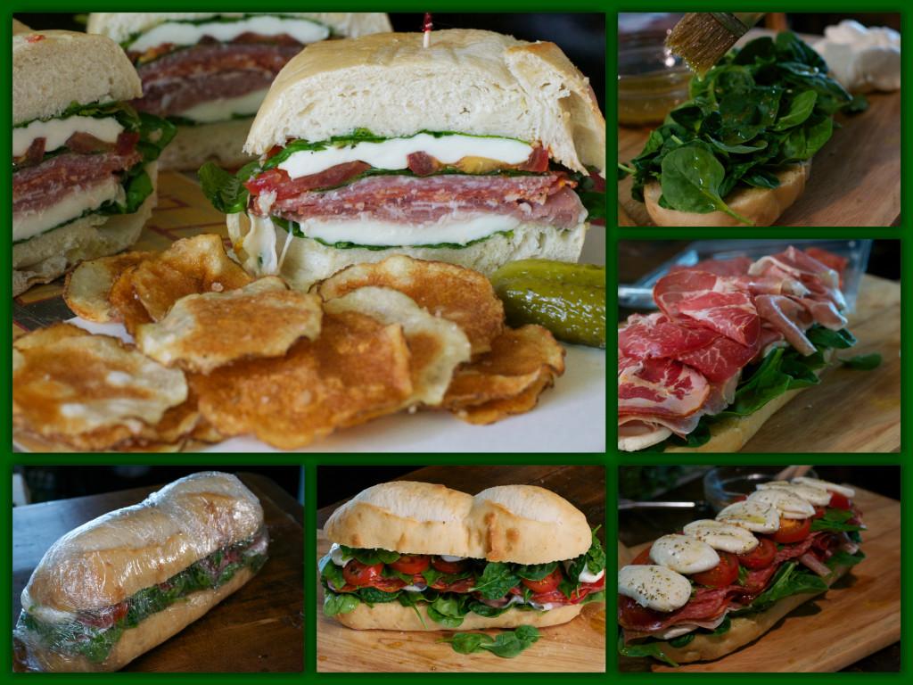 Pressed Italian Picnic Sandwich Collage