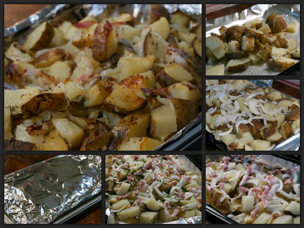 Rosemary Bacon Potatoes Collage
