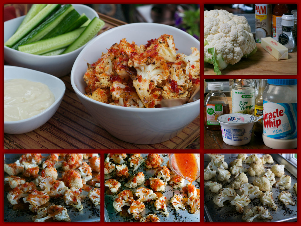 Roasted Sweet Chili Cauliflower Bites Collage