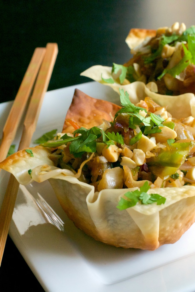 Chow Mein Egg Roll Cups 2