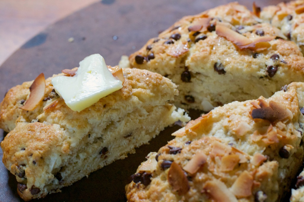 Coconut Chocolate Chip Scones