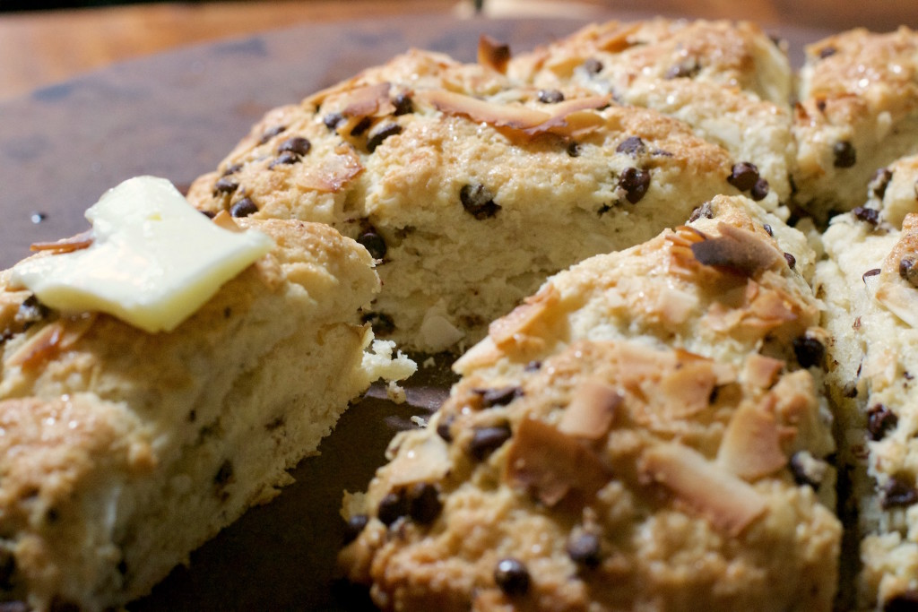 Coconut Chocolate Chip Scones 6