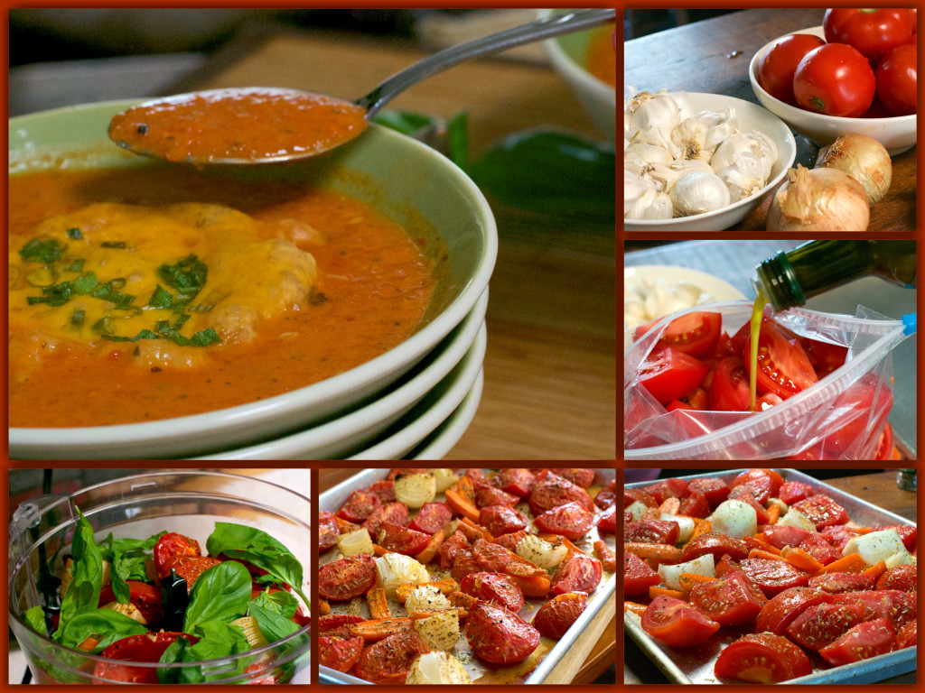 Fresh Roasted Tomato Soup Collage