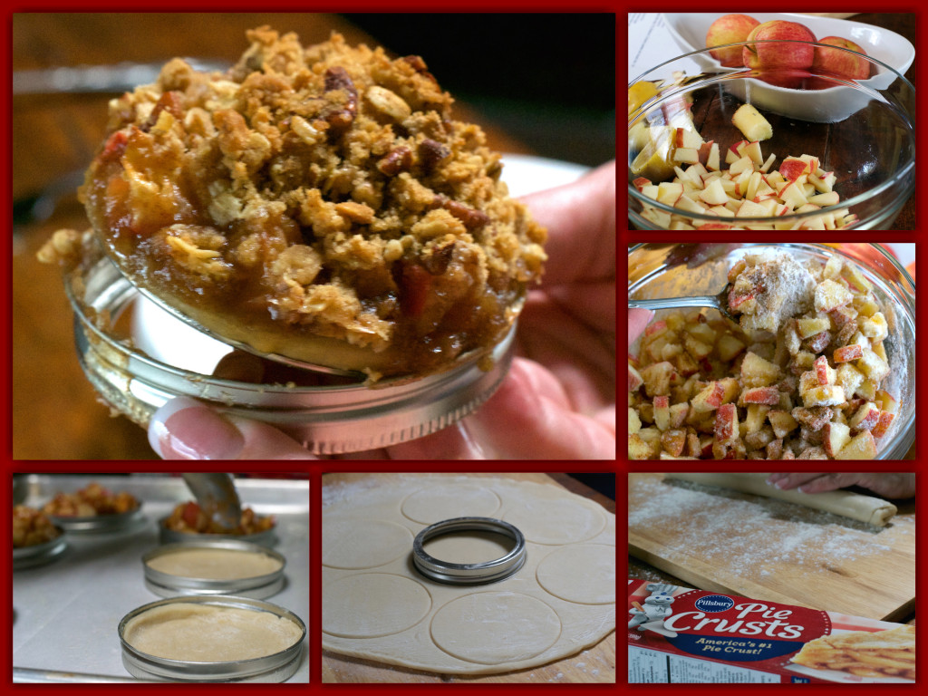 Caramel Pecan Apple Crisp Rings Collage