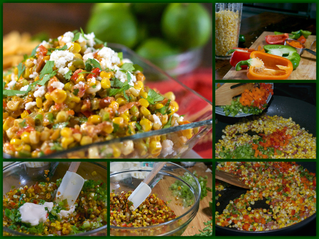 Confetti Corn Dip Collage