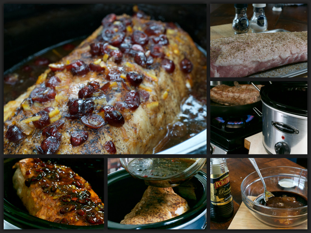 Cranberry Orange Pork Roast Collage