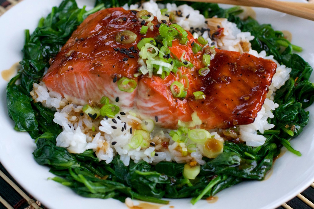 Glazed Salmon Rice Bowl 1