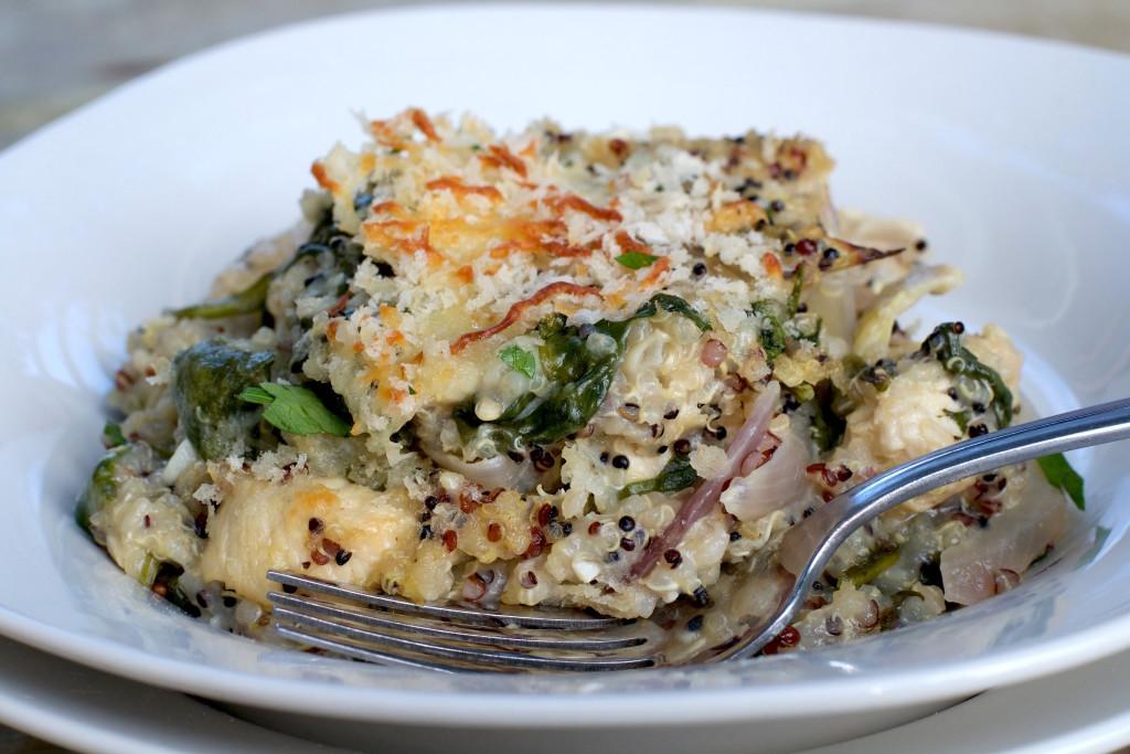 Spinach Artichoke Quinoa Casserole 4